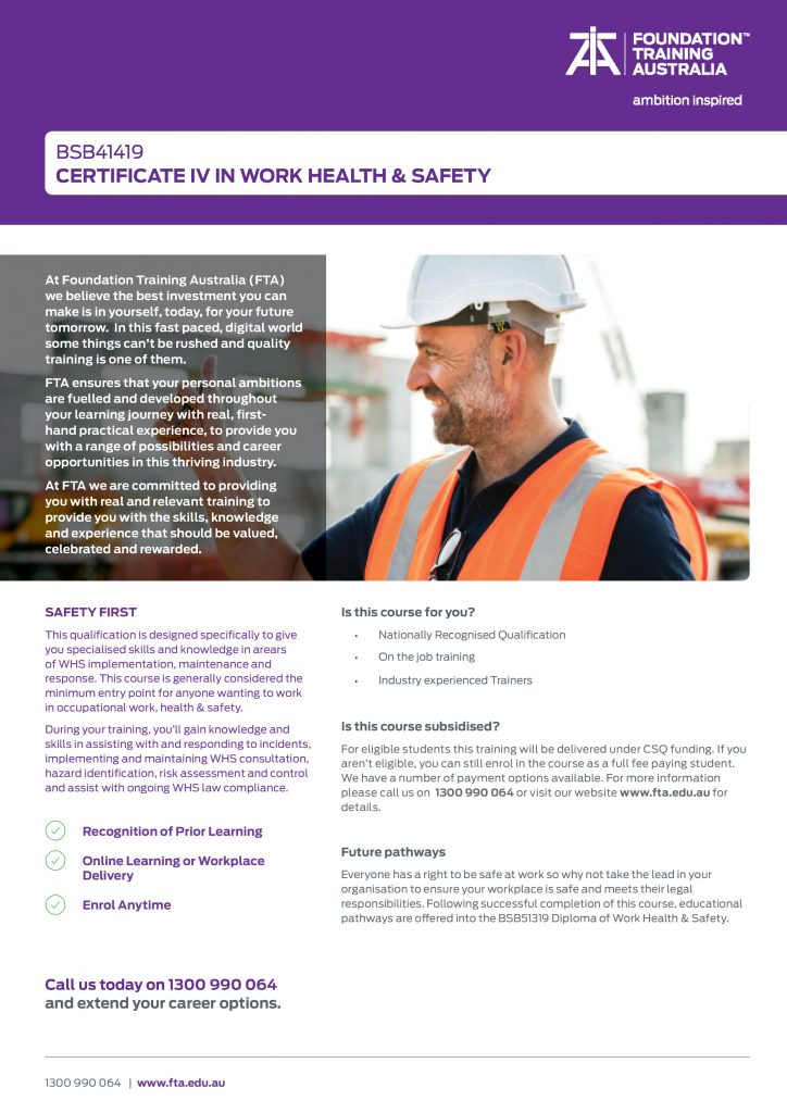 https://www.fta.edu.au/wp-content/uploads/2021/08/TP1.MK_.191-Certificate-IV-in-Work-Health-_-Safety-BSB41419-COVER-1-724x1024.jpg